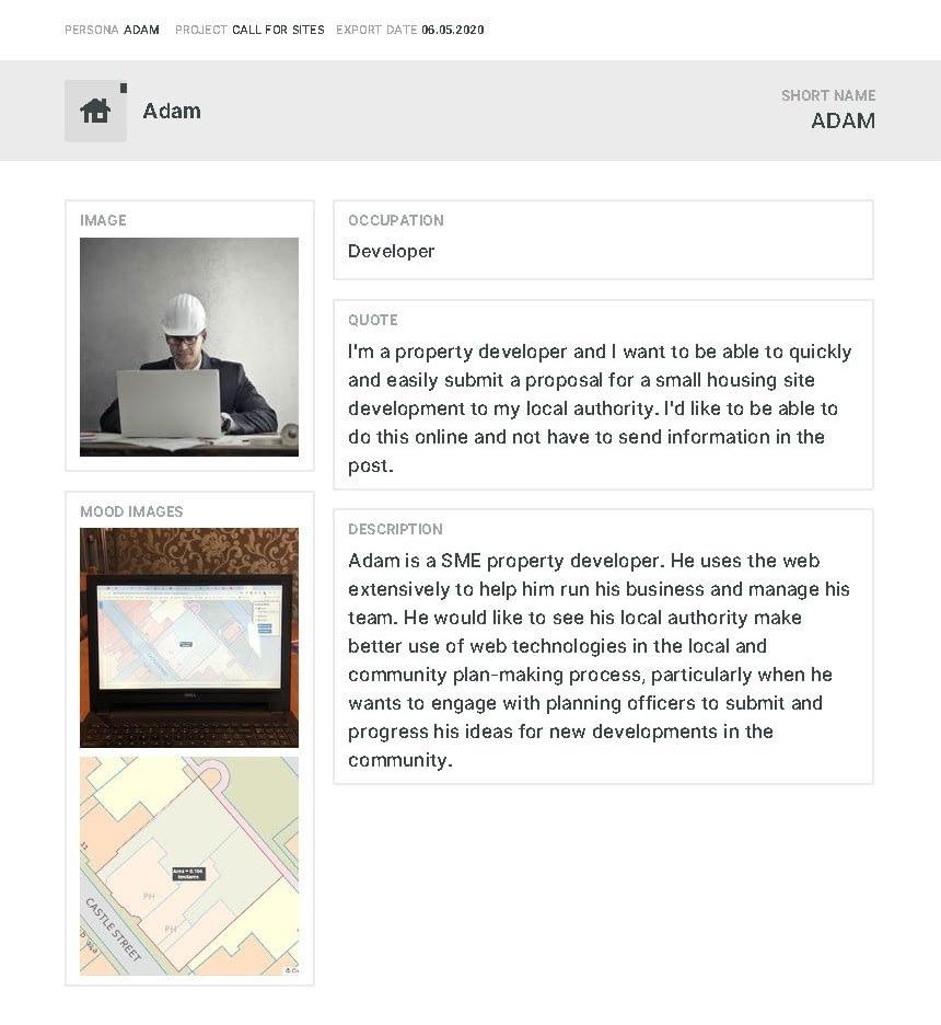 Developer's call-for-sites user journey